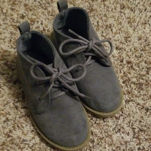 Boys Gray Suede Dress Shoes